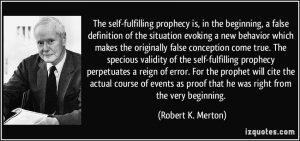 prophétie autoréalisatrice